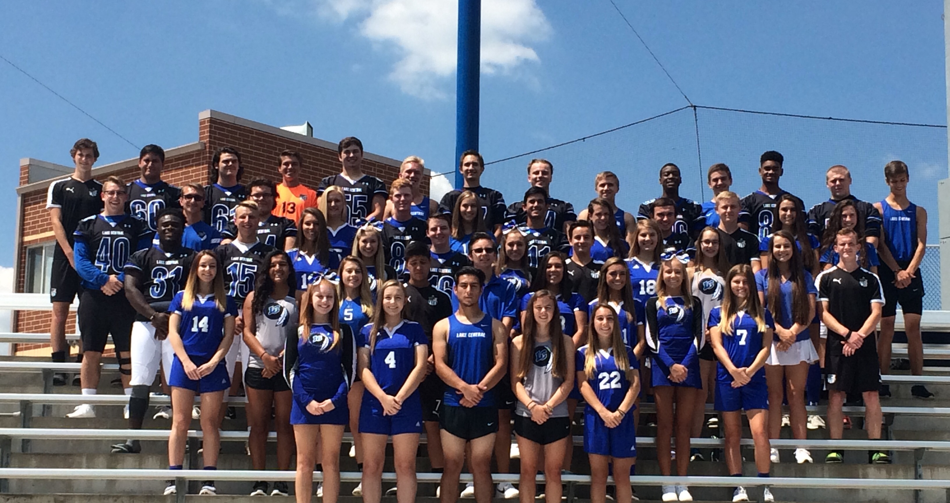Lake Central Fall Senior Athletes Group Photo